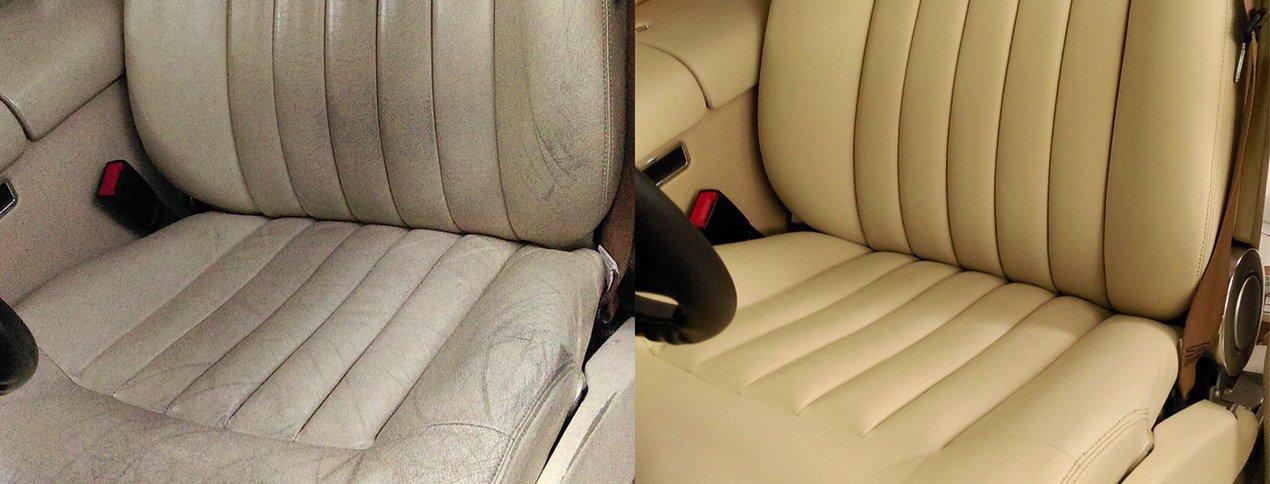 Полная кожаная обивка сидений автомобиля